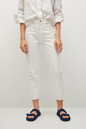 cropped high waist mom jeans ecru