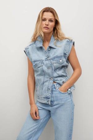 cropped high waist loose fit jeans light denim