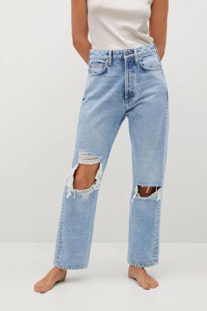 high waist loose fit jeans light denim