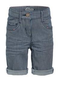 s.Oliver gestreepte slim fit short blauw/wit, Blauw/wit