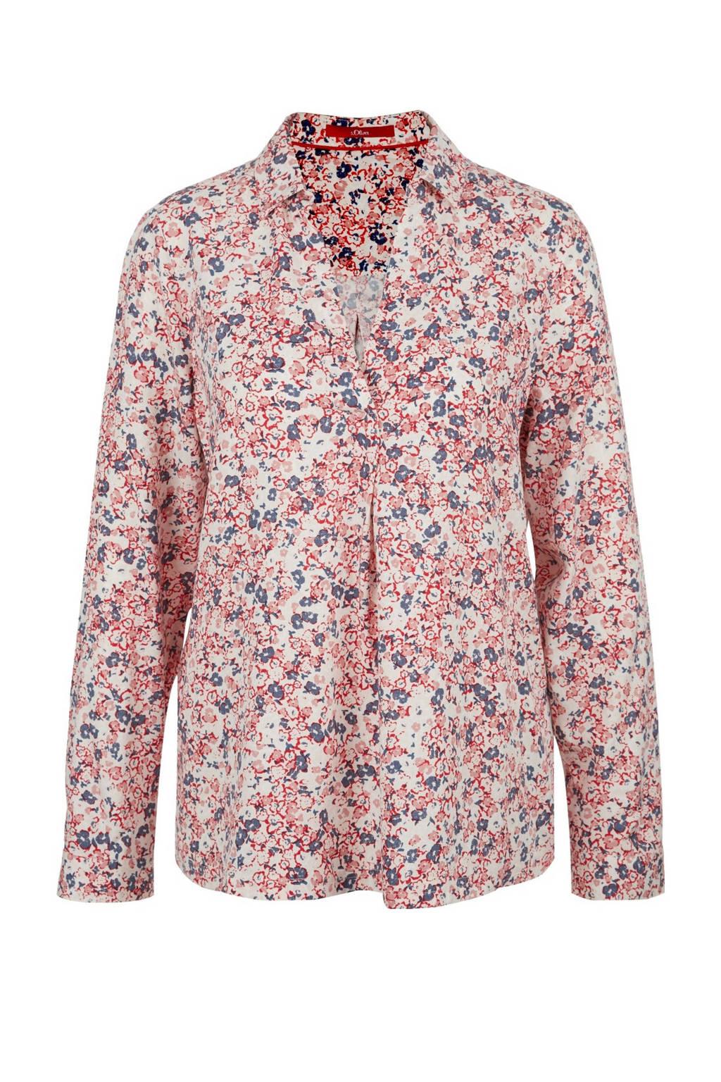 s.Oliver gebloemde blouse lichtroze/multi, Lichtroze/multi