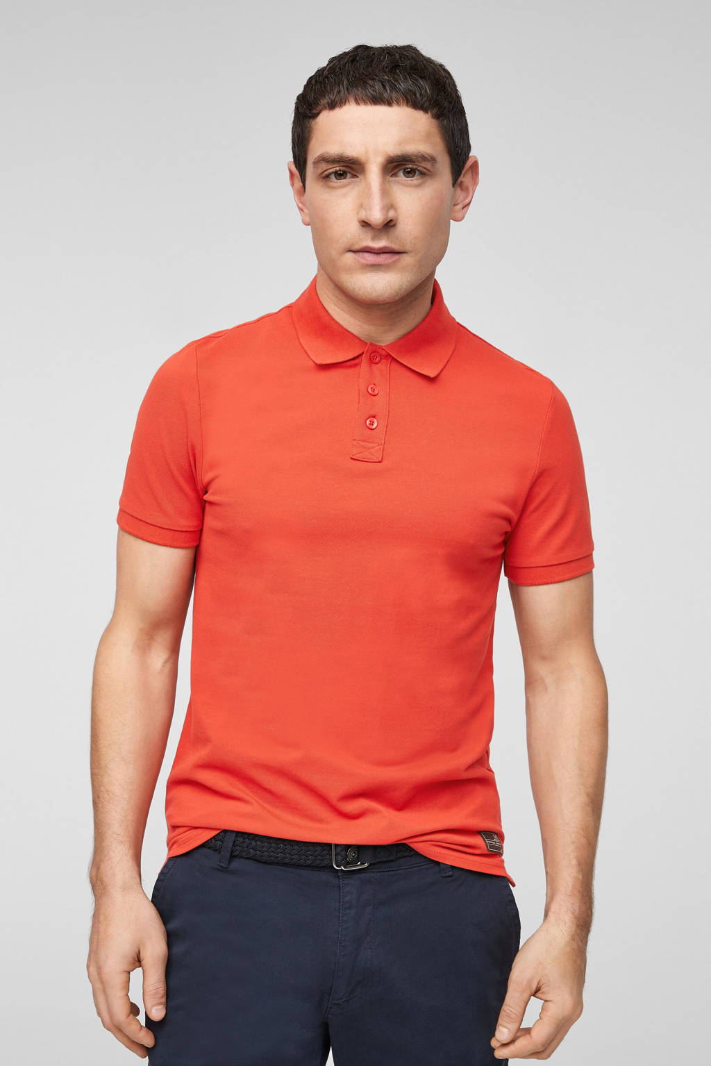 Q/S designed by regular fit polo rood, Rood