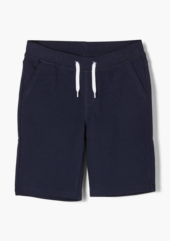 s.Oliver regular fit sweatshort donkerblauw, Donkerblauw