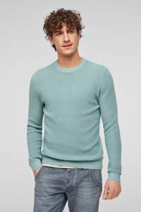 Q/S designed by slim fit trui blauw, Blauw