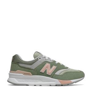 997  sneakers groen/roze/grijs