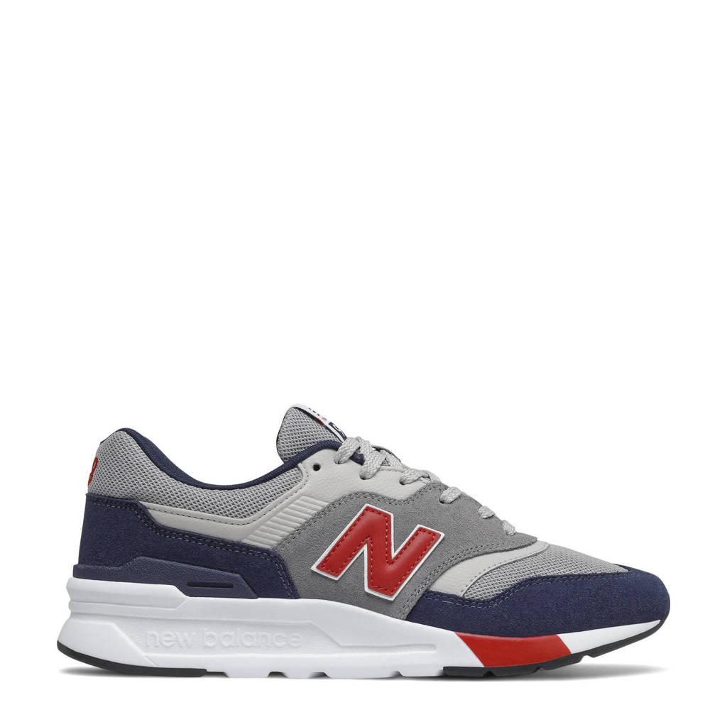 New Balance 997  sneakers grijs/blauw/rood, Grijs/blauw/rood