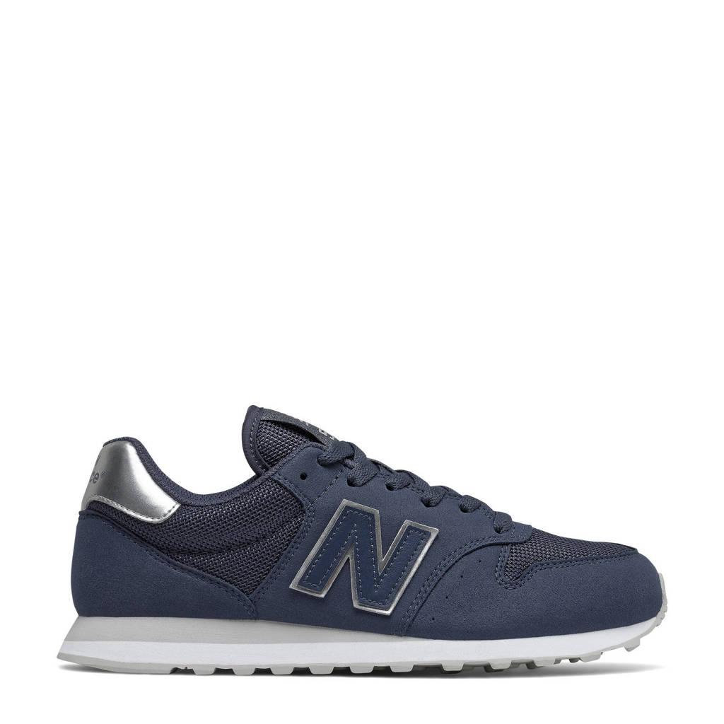 New Balance 500  sneakers donkerblauw/zilver, Donkerblauw/zilver