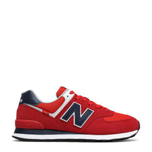 574  sneakers rood/donkerblauw