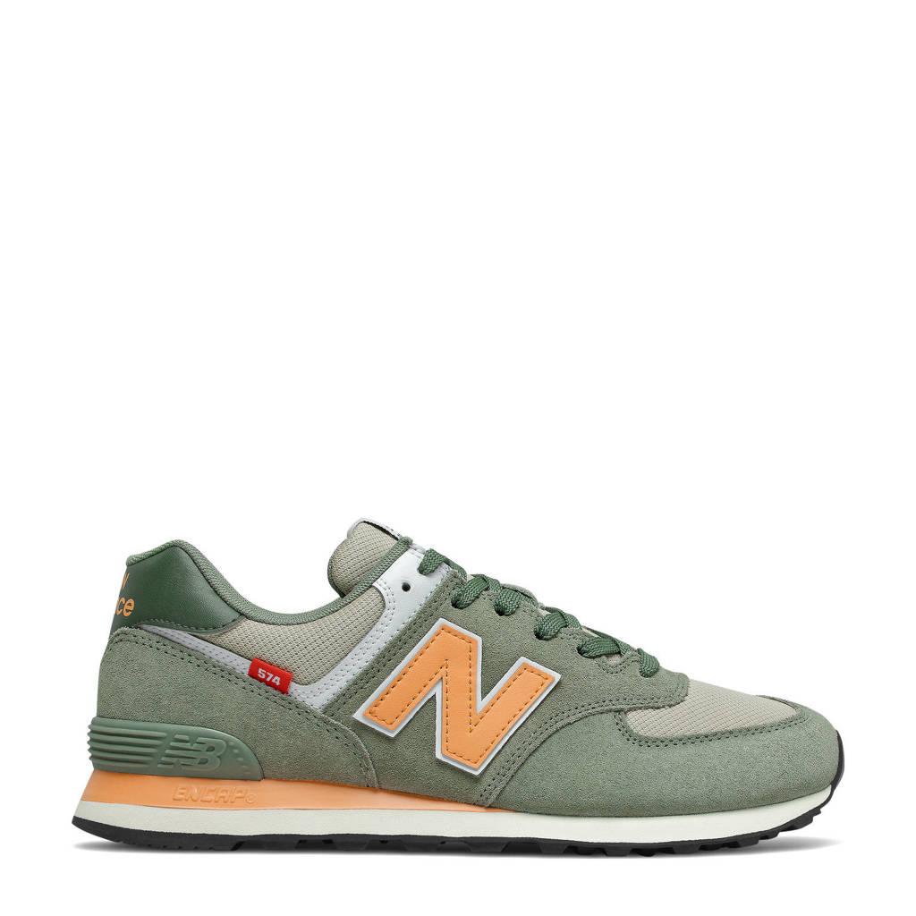 New Balance 574  sneakers kaki/geel, Kaki/geel