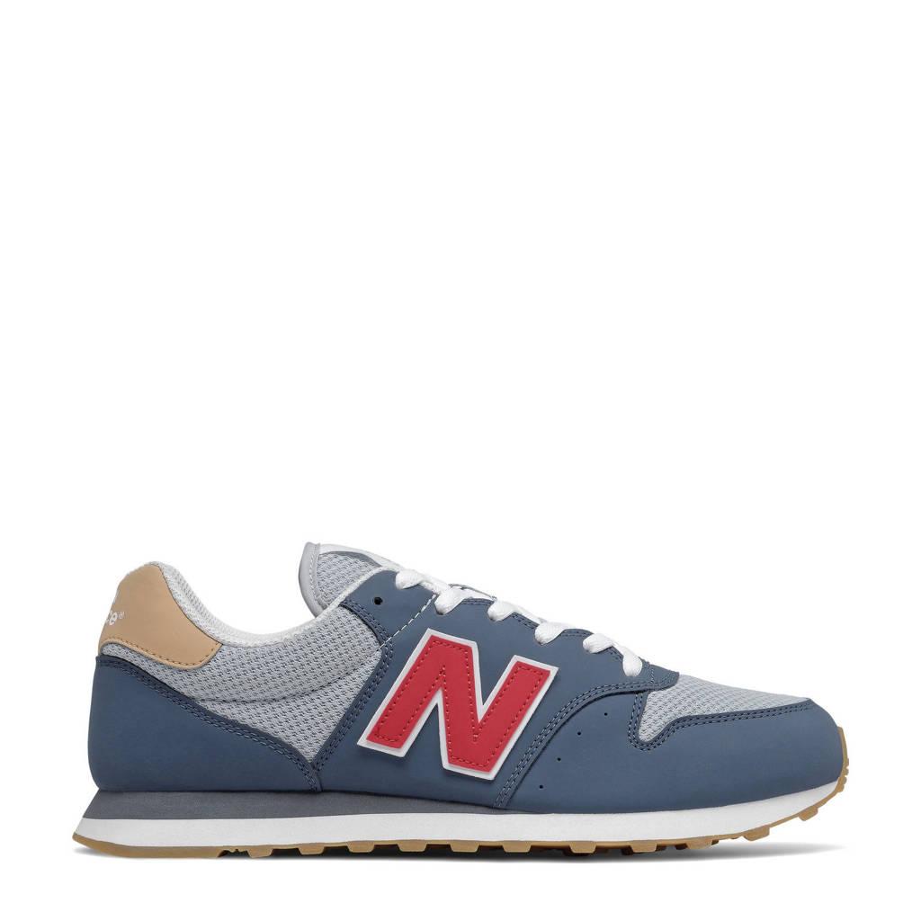 New Balance 500  sneakers blauw/grijs/rood, Blauw/grijs/rood