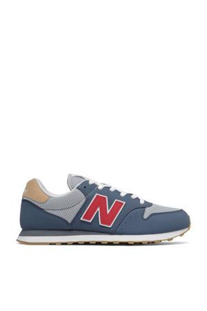 500  sneakers blauw/grijs/rood