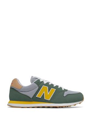 500  sneakers kaki/grijs/geel