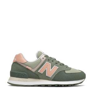 574  sneakers kaki/roze