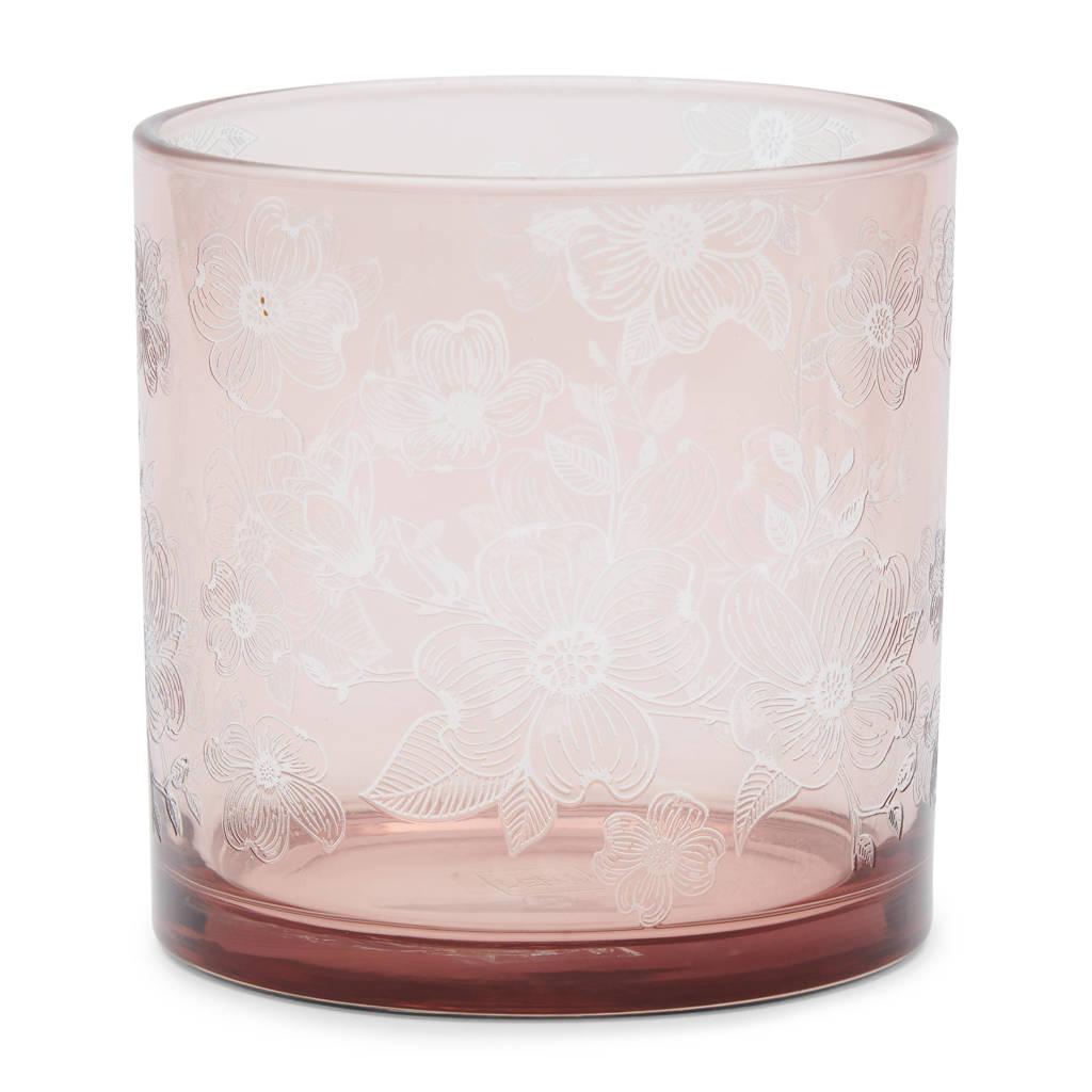 Riviera Maison windlicht Flower, Roze