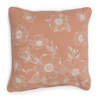 Riviera Maison sierkussenhoes Floral  (50x50 cm), Roze /wit