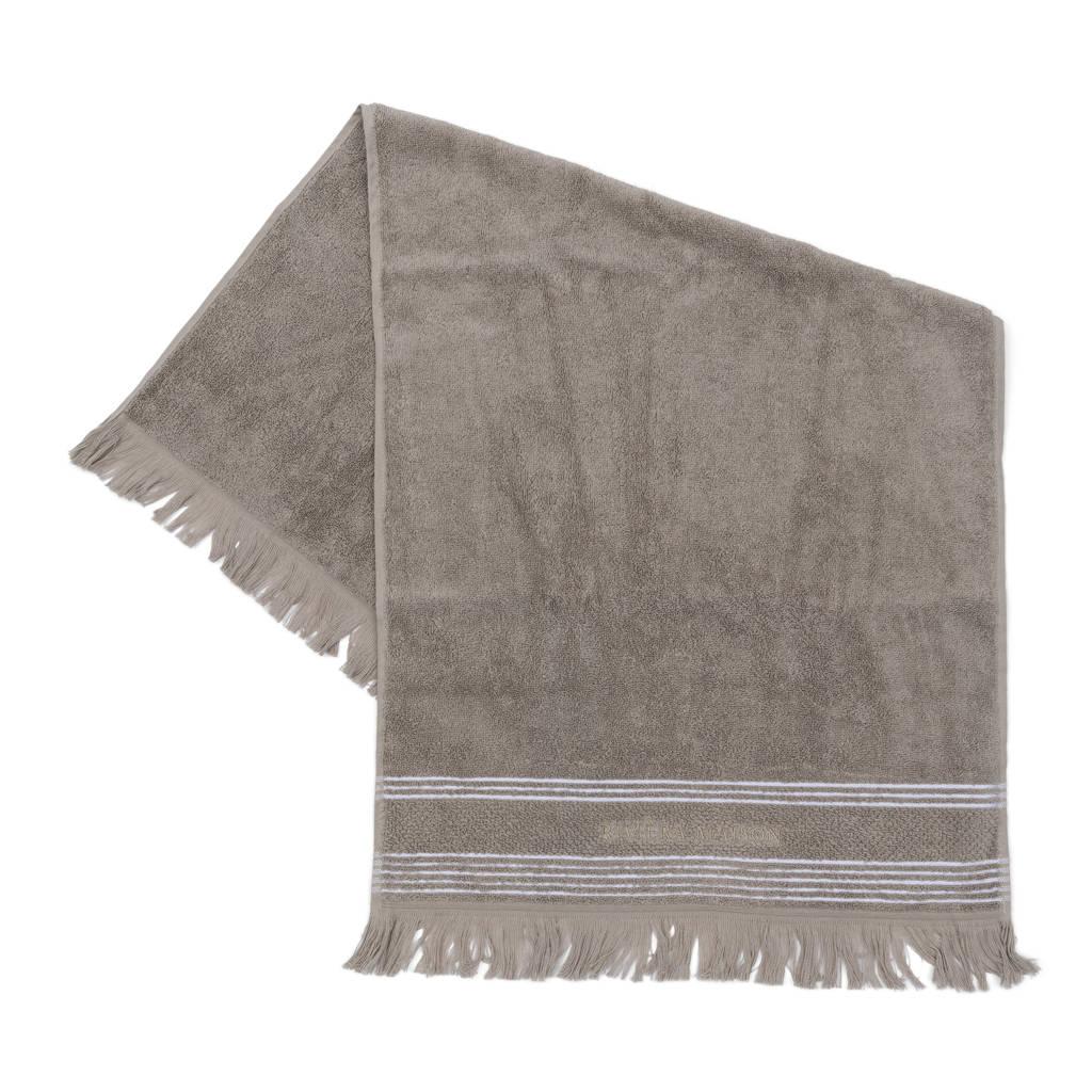 Riviera Maison handdoek (per stuk) (100 x 50 cm) Taupe