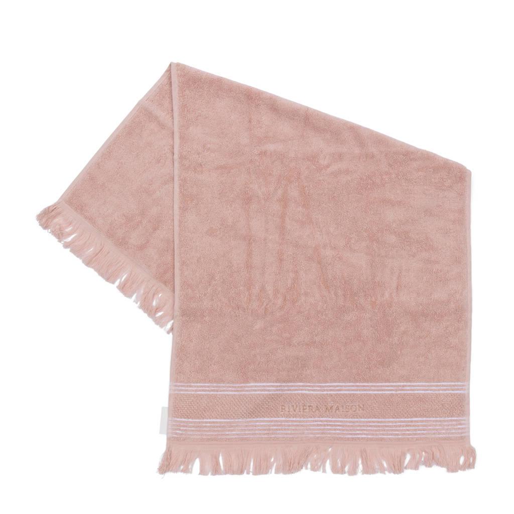 Riviera Maison handdoek (per stuk) (100 x 50 cm) Roze