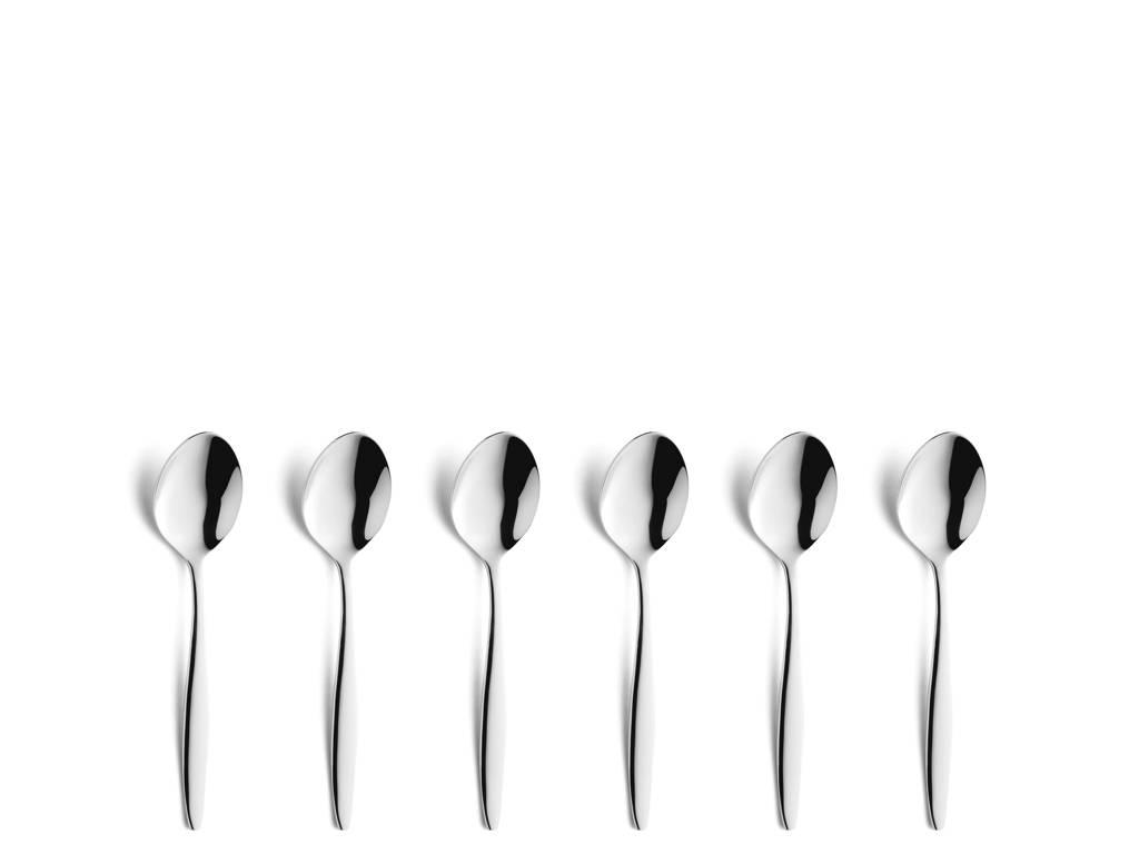 Amefa Florence theelepels (set van 6), zilver glans