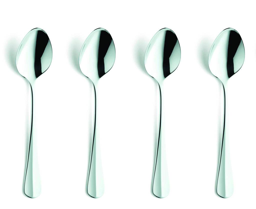 Amefa Baguette koffielepels (set van 6), zilver glans