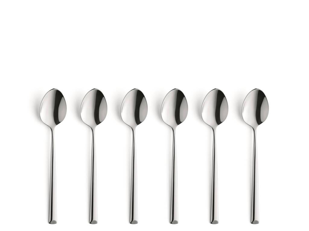 Amefa Metropole koffielepels (set van 6), zilver glans