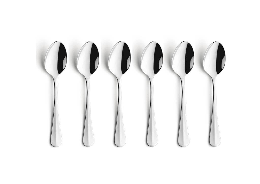 Amefa Baguette theelepels (set van 6), zilver glans