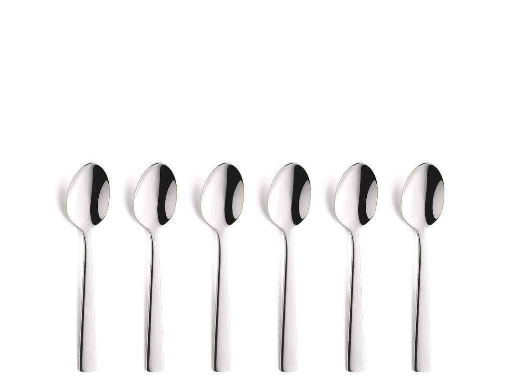 Amefa Moderno koffielepels (set van 6), zilver glans