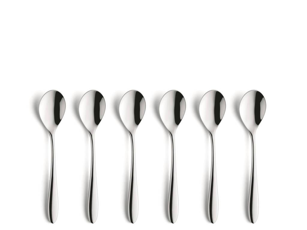 Amefa Cuba koffielepels (set van 6), zilver glans