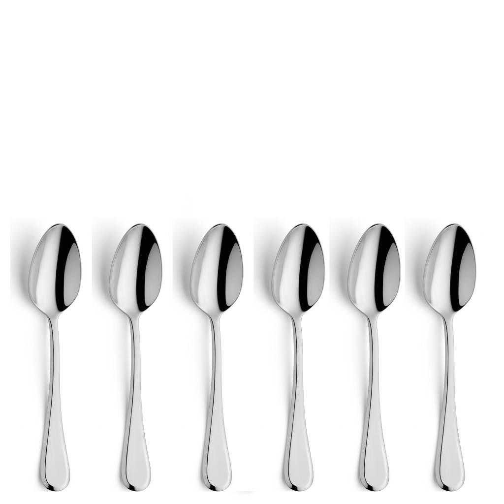 Amefa Drift koffielepels (set van 6), zilver glans