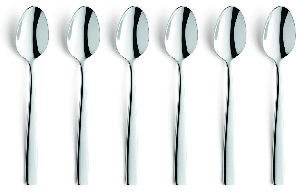 Amefa Martin koffielepels (set van 6), zilver glans