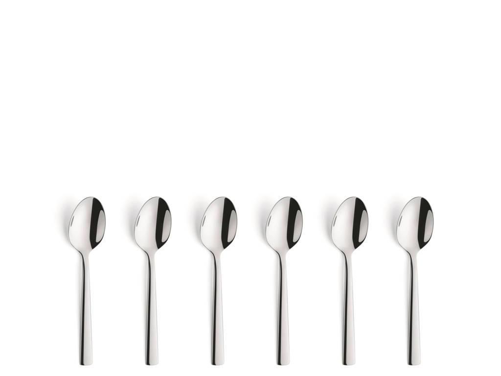 Amefa Moderno theelepels (set van 6), zilver glans