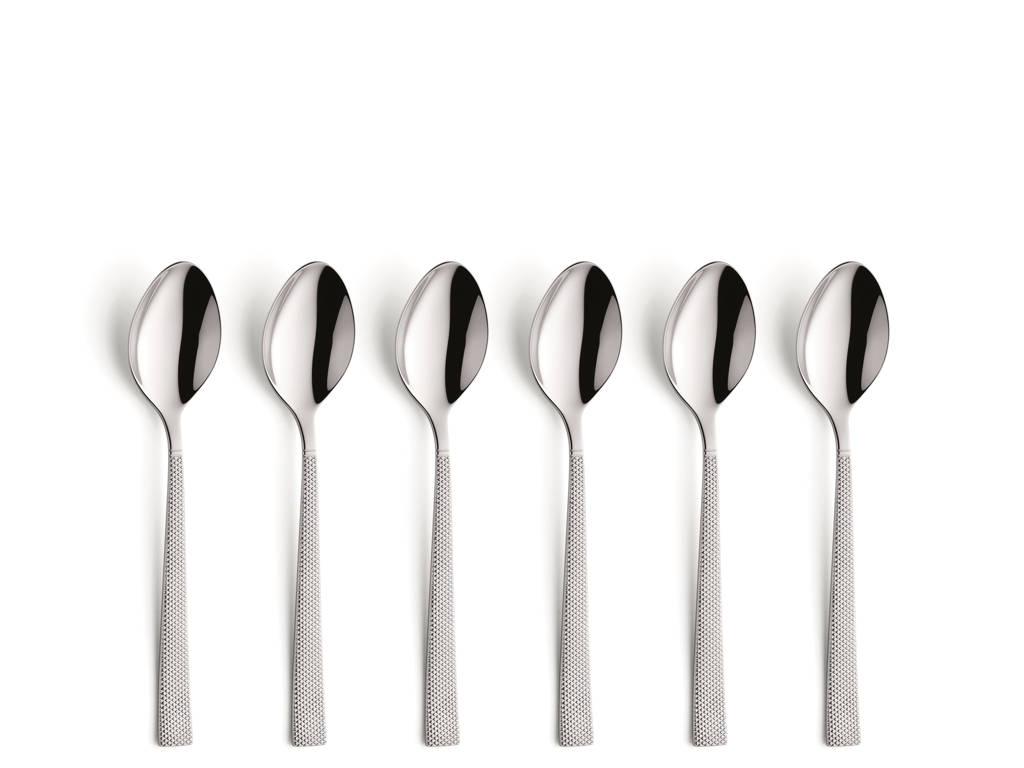 Amefa Jewel koffielepels (set van 6), zilver glans