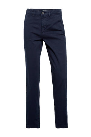 cropped tapered fit broek GABBY donkerblauw