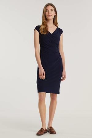 jurk Brandie met plooien donkerblauw