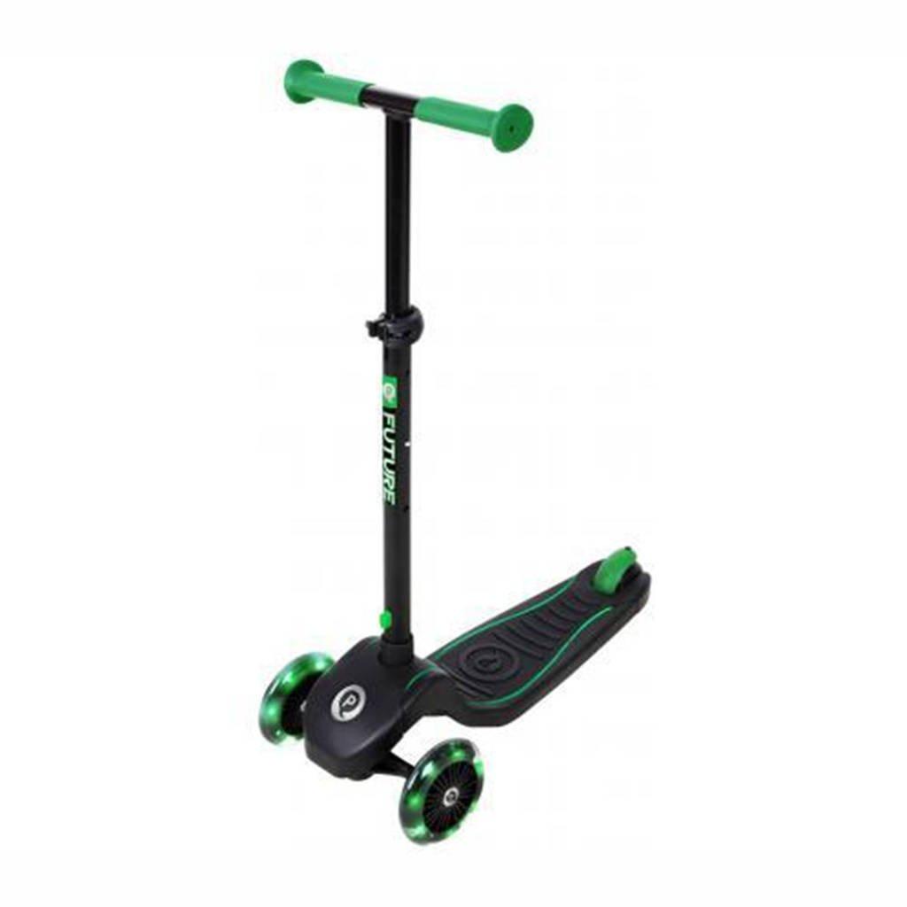 Qplay step Future scooter, zwart/ groen
