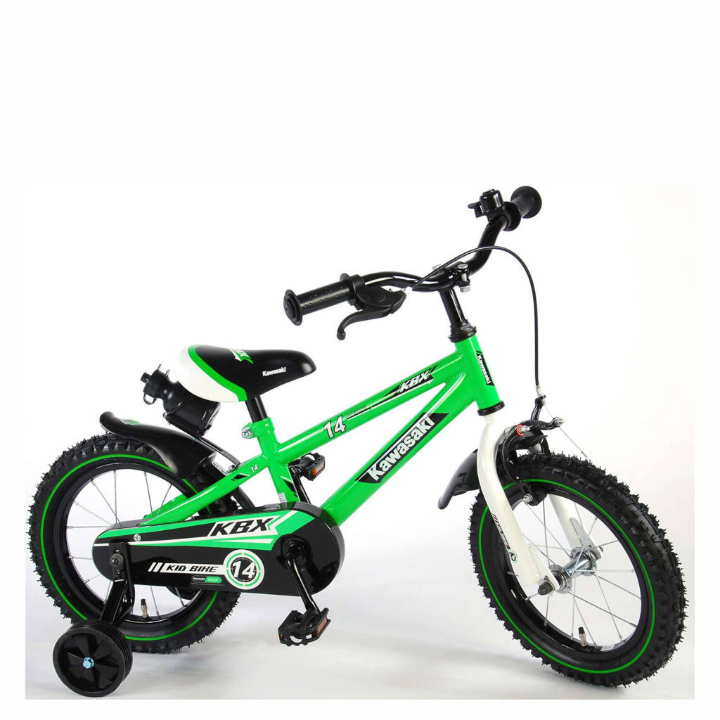Kawasaki Kawasaki kinderfiets 14 inch Groen kinderfiets 14 inch