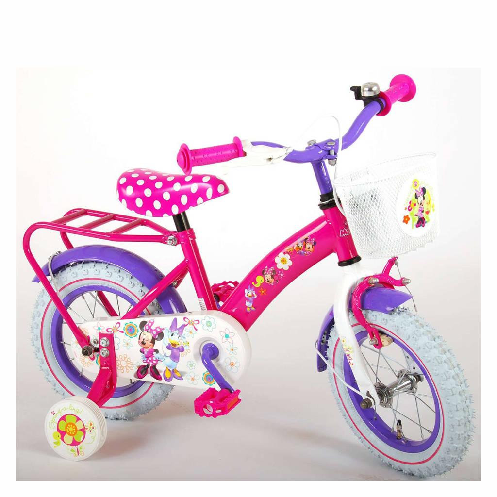 Disney Minnie Bow-Tique kinderfiets 12 inch Roze / Paars kinderfiets 12 inch, Roze / paars