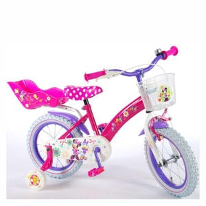 Minnie Mouse Bow-Tique kinderfiets 14 inch Roze / Paars