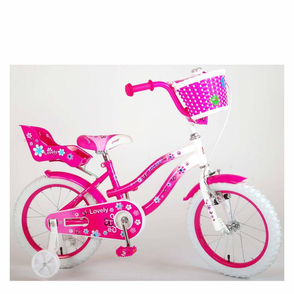 Volare Lovely kinderfiets 16 inch Roze / Wit, roze / wit