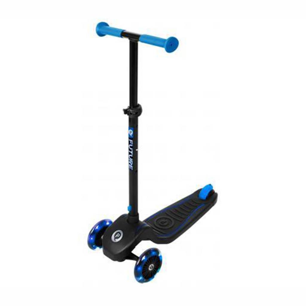 Qplay step Future scooter, zwart/ blauw