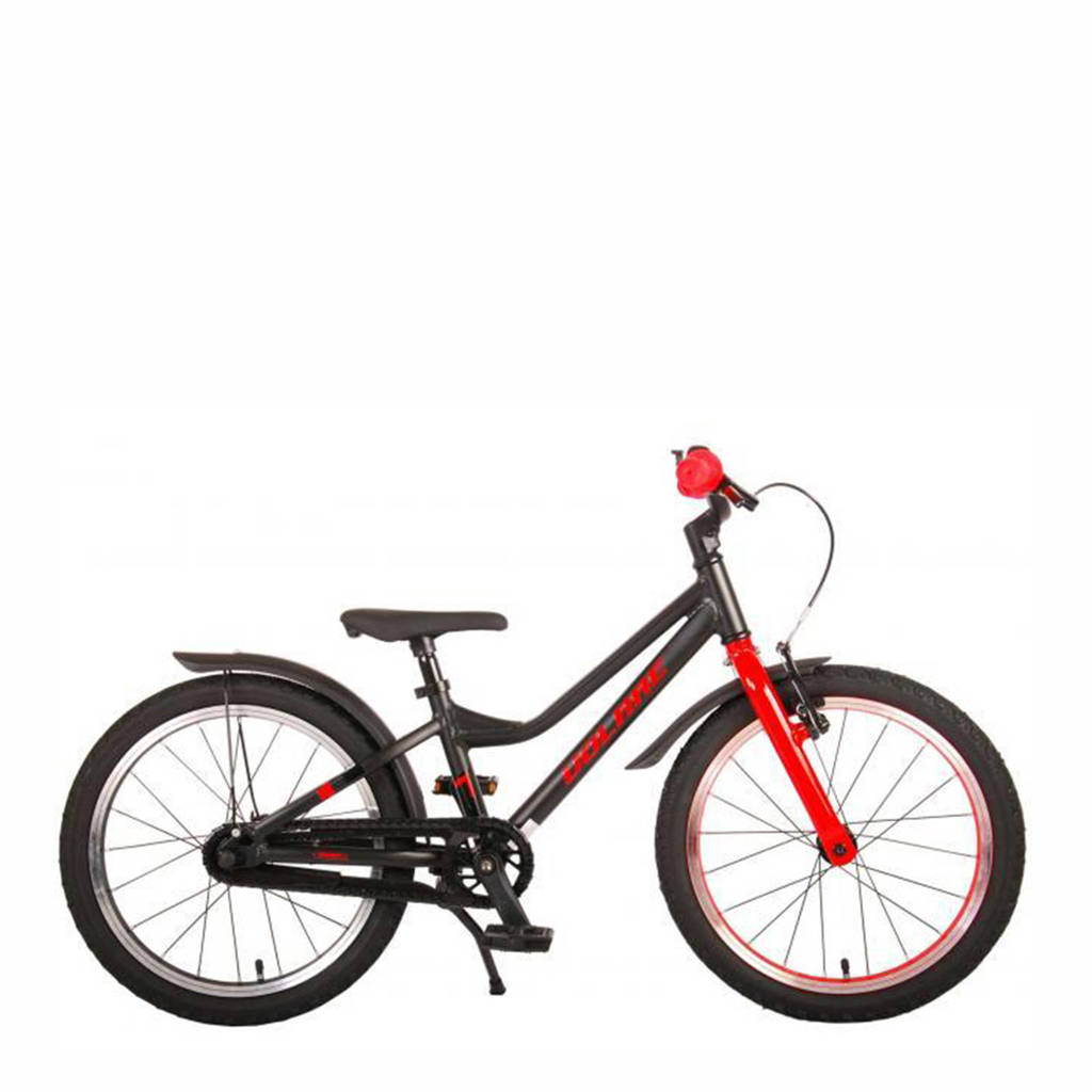 Volare Blaster kinderfiets 18 inch Zwart/ Rood kinderfiets Blaster 18 inch, Zwart/ rood