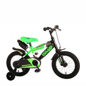 "Sportivo 14"" Neon Green Black CB kinderfiets Sportivo 14 inch"