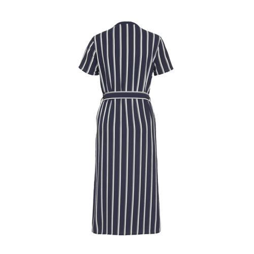 VERO MODA gestreepte jurk VMSAGA van gerecycled polyester blauw/wit