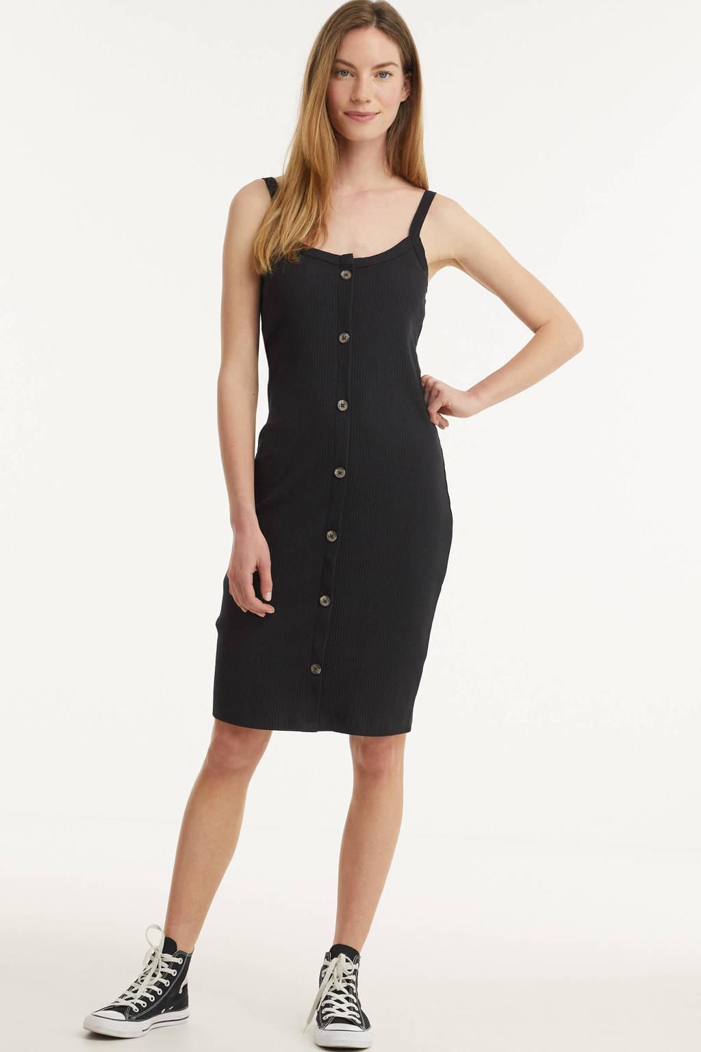 AWARE by VERO MODA jurk VMHELSINKI met biologisch katoen zwart, Zwart