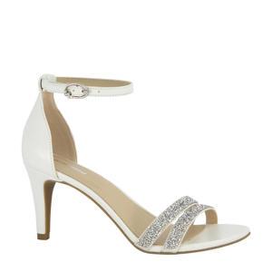 sandalettes met glitters wit