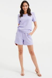 WE Fashion top met textuur lila, Lila