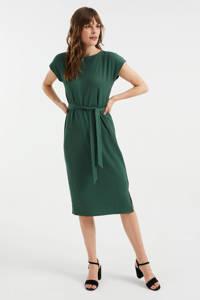 WE Fashion jurk van gerecycled polyester donkergroen, Donkergroen