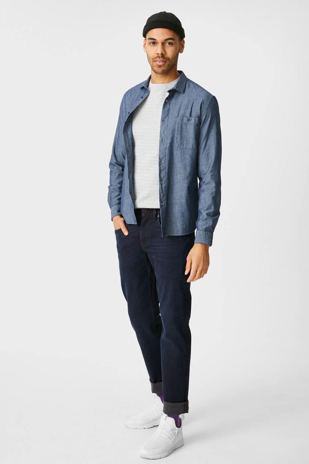 C&A The Denim slim fit jeans blauw, Donkerblauw