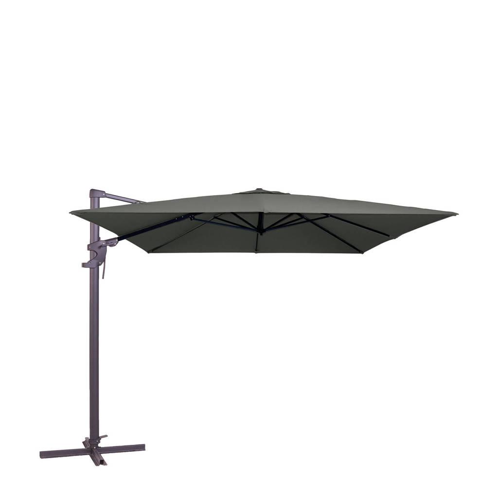 Madison parasol Monaco Flex ll (300x300 cm), Grijs