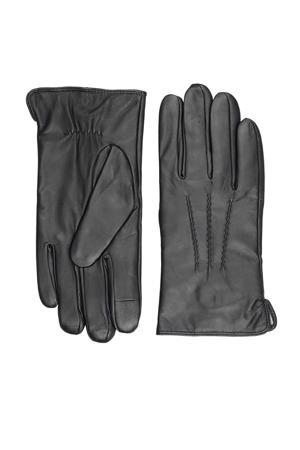 leren handschoenen Harvey zwart