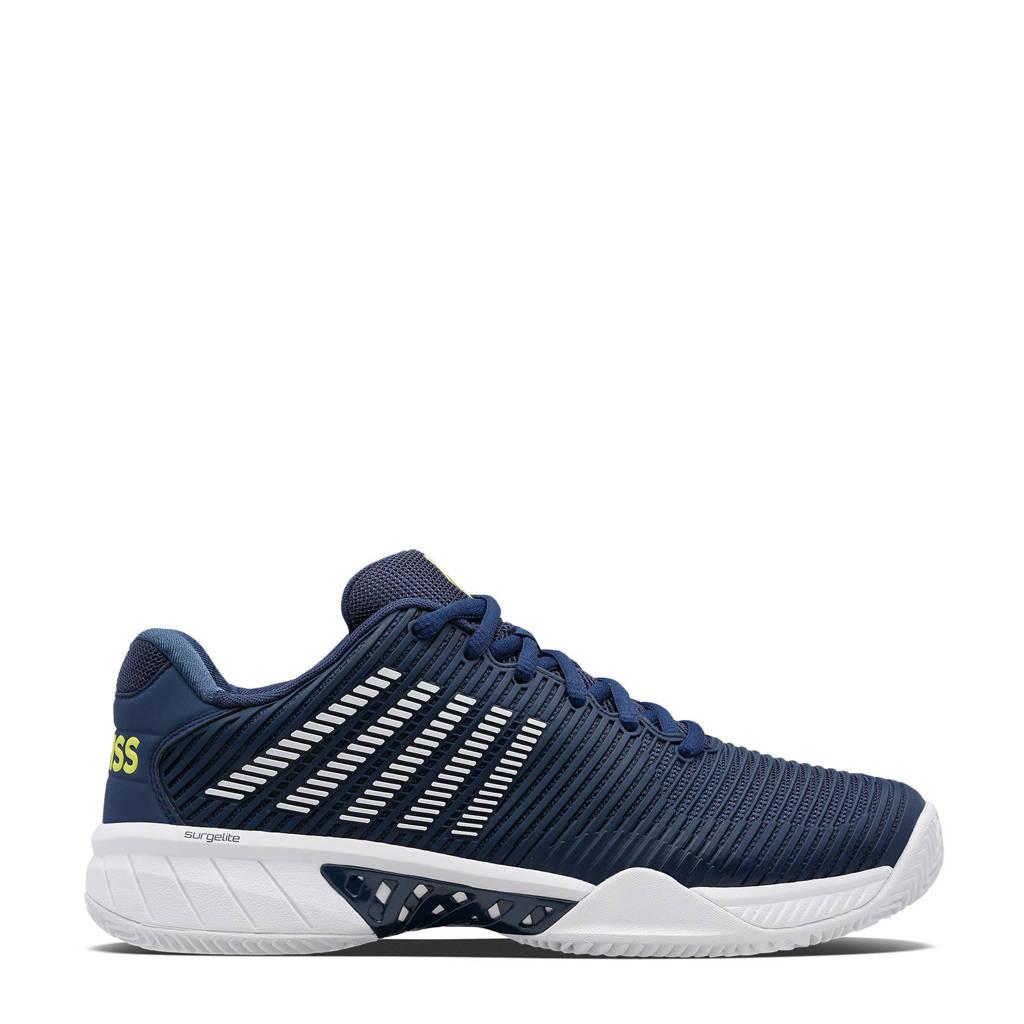 K-Swiss Hypercourt Express 2 hb tennisschoenen donkerblauw/wit/geel, Donkerblauw/wit/geel